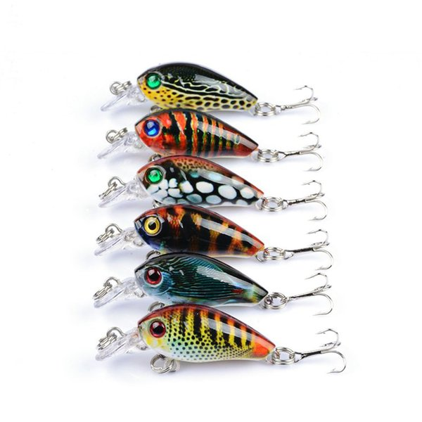 6pcs/lot Crankbaits Fishing Lures Wobblers Crank Hard Baits Painting Series Topwater Pesca Fishing Minnow Lure 4g 4.5cm