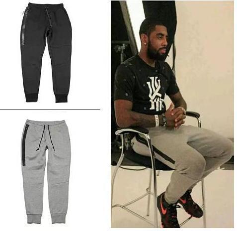 Noir Gris Chaud Pantalons Hommes Printemps Automne Jogger Casual Sport Slim Fit Long Crayon Pantalon Mâle Basketball Formation Long Pantalon