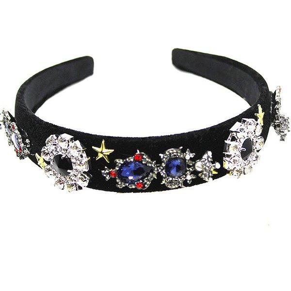 2019 New Fashion Vintage Delicate and Elegant Women Headband Crystal Handmade Flower Hair Accessories Baroque Hairbands