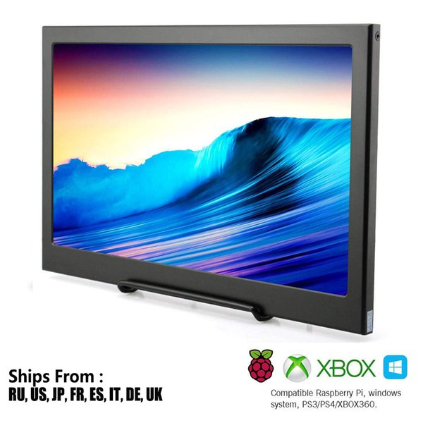 15.6 Inch IPS LCD Monitor 1920x1080 HD Slim Portable Monitor PC with HDMI,Audio Output,USB Powered PS4/PS3/xbox360 Raspberry Pi
