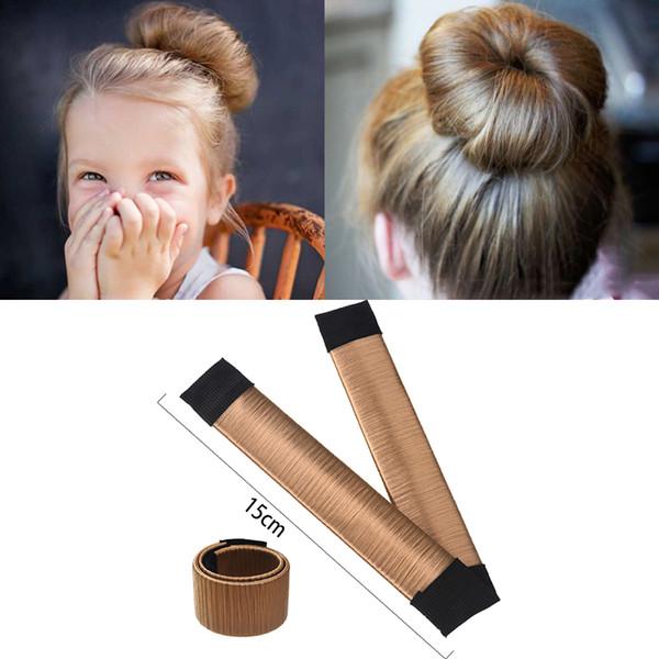 15 cm / 21 cm Bola Bend Magic Bun Peruca Flexível Francês Chignon Hair Bands Fazendo Estilo Acessórios Para o Cabelo para As Mulheres Crianças