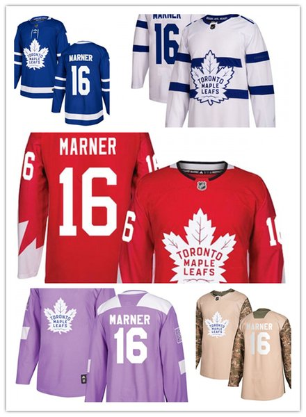 Toronto Maple Leafs jerseys #16 Mitch Marner jersey ice hockey men women blue white red Authentic winter classic Stiched gears Jersey