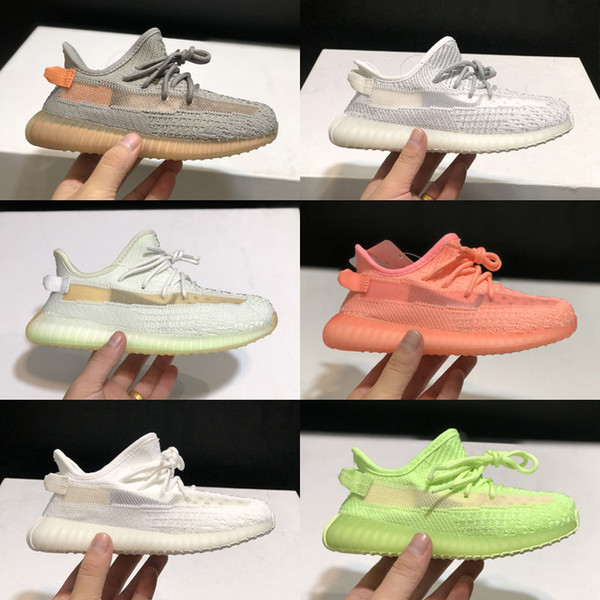 kids 350s Static Butter Zebra Beluga 2.0 Cream White Bred white Semi Frozen Beluga 2.0 Outdoor Shoes Sports Sneakers size 28-35