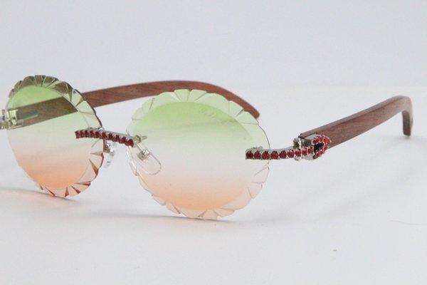 Lente rosa verde prata