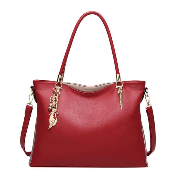 Fashion Women PU Leather Bags Famous Brands Handbag Casual Female Bag Trunk Tote Ladies Girls Shoulder Bag Large Messenger