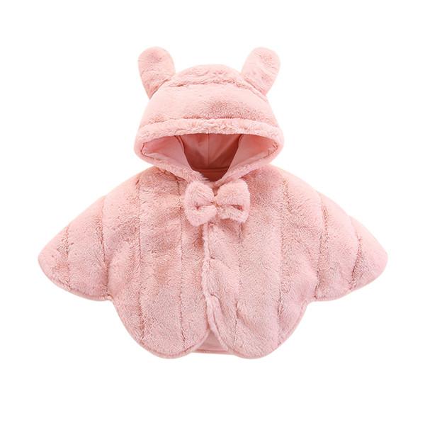 Bebê atacado roupa meninas miúdos roupas de grife meninas rosa bonito poncho de designer casacos de inverno com capuz meninas coletes à prova de vento quente 110201