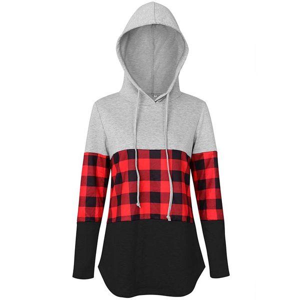 plaid hoodie A1