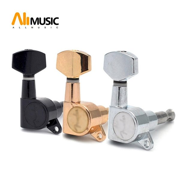 Free Shipping Guitar Sealed Small Peg Tuning Pegs Tuner Machine Heads for Acoustic Electric Guitar Guitar Parts with LOGO