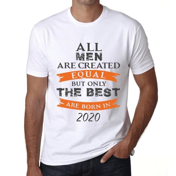 2020 Seuls les meilleurs sont nés en 2020 Uomo Maglietta Bianca Regalo 00510 vente en gros Drôle Hipster O-cou Cool Tops Hip Hop manches courtes