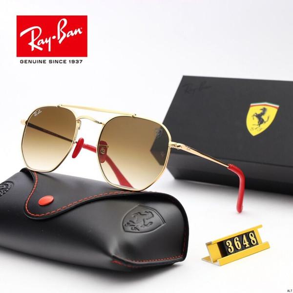 1 stücke top qualität sonnenbrille für frauen mode vassl marke designer gold metallrahmen rot bunte sonnenbrille eyewear kommen braune box