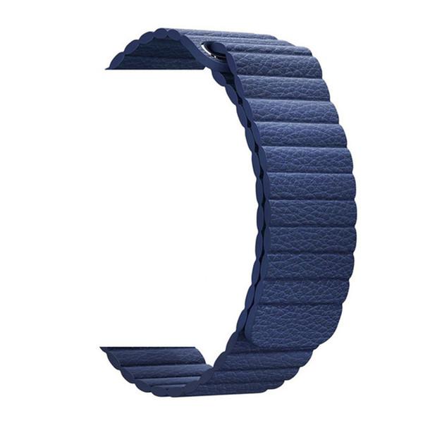Verstellbare magnetische Lederarmbänder für Apple-Uhrenarmbänder Serie 1234 42mm 38mm-Armbandarmband Verschluss-Schleife Schwarz, Blau, Braun
