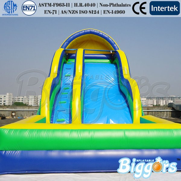 Free shipping commercial grade inflatable slide water slide with pool summer game