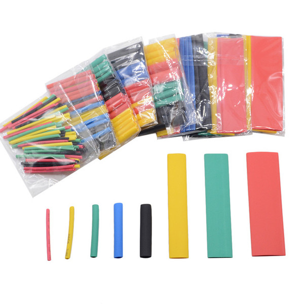 Cheap Cable Sleeves 164pcs Set Polyolefin Shrinking Assorted Heat Shrink Tube Wire Cable Insulated Sleeving Tubing Set