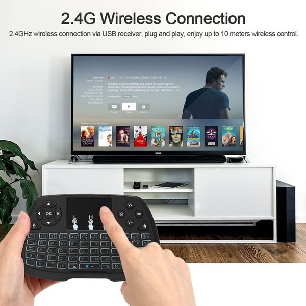 Mini tastiera wireless Fly Air Mouse Telecomando Touchpad 2.4GHz con ricevitore USB per Android TV Box PC desktop notebook portatile