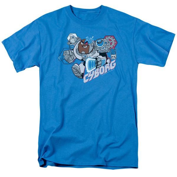 Teen Titans Go Cartoon CYBORG Camiseta para adultos con licencia Todos los tamaños Hombres Mujeres Unisex Camiseta de moda Envío gratis Divertido Cool Top Tee Blanco