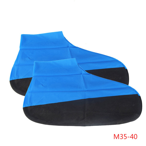 Cubiertas de zapatos de lluvia impermeables de látex de tubo alto Protector de bota desechable espeso unisex para exteriores