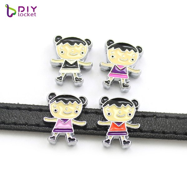 """belt diy 8MM """"Boy & Girl"""" Slide Charms """"Can Choose 12 different style"""" (10 pieces/lot) Fit DIY Wristband Belt &"""
