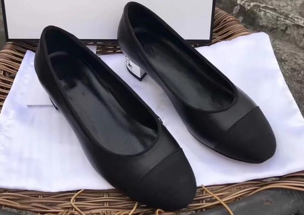 Early spring explosions hot black patent leather stitching graphic designer women's shoes dance shoes classic fashion brand shoes high quali
