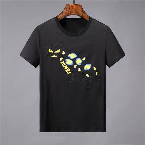 maglietta di estate del progettista degli uomini Magliette nere Magliette casual da uomo in cotone manica corta da uomo T-shirt da uomo stampate firmate hip-hop 47