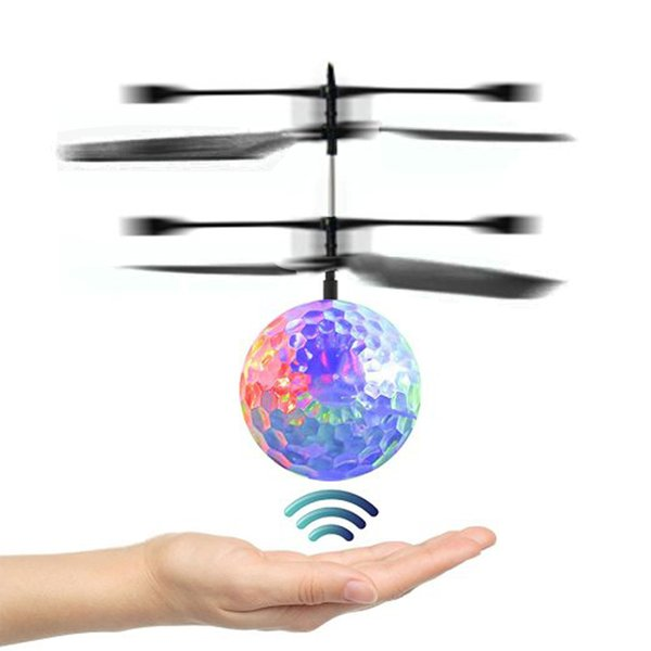 mini drone RC Helicopter Aircraft Flying Ball giocattoli volanti Ball Shinning Illuminazione a LED Quadcopter Dron fly Elicottero Giocattoli per bambini