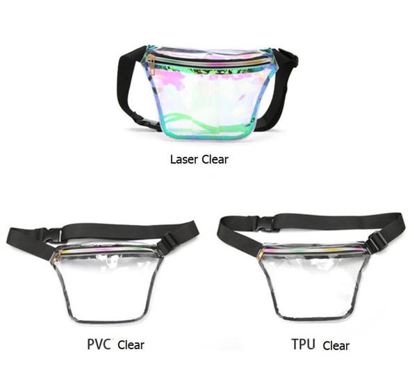 Hologram Lazer Bel Çantası Transperant Gökkuşağı Kemer Fermuar Kadın Fanny Paketi Spor Plaj Crossbody Omuz Çantaları Depolama Telefon Kılıfı A41201