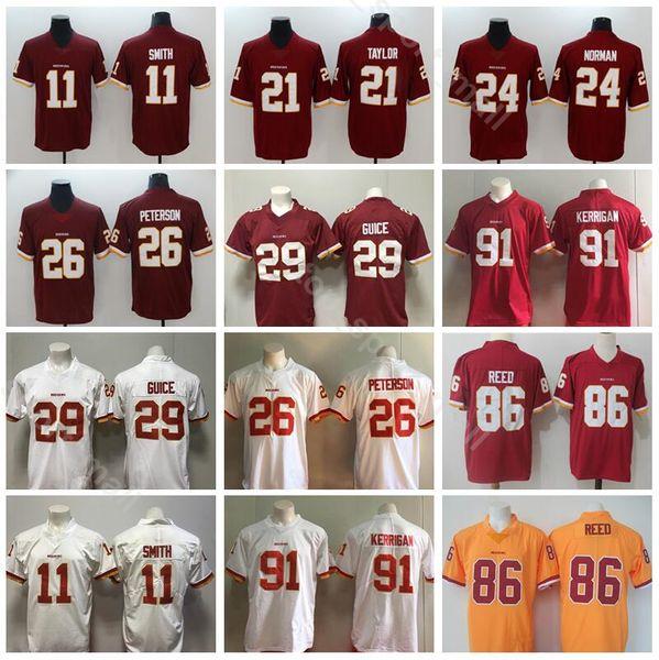 30d387c2 Washington Redskin Football 11 Alex Smith Jersey Men 26 Adrian Peterson 29  Derrius Guice 86 Reed
