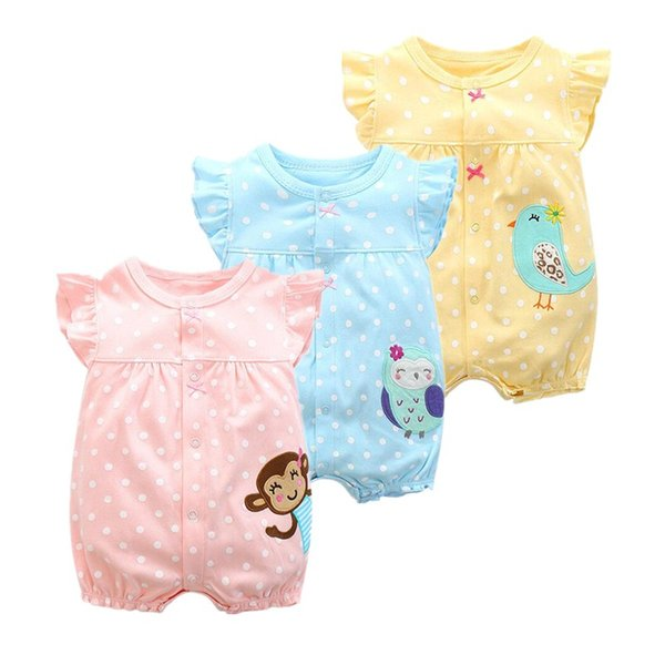 2019 summer baby girl clothes one-pieces jumpsuits baby clothing , cotton short romper infant boys clothes roupas