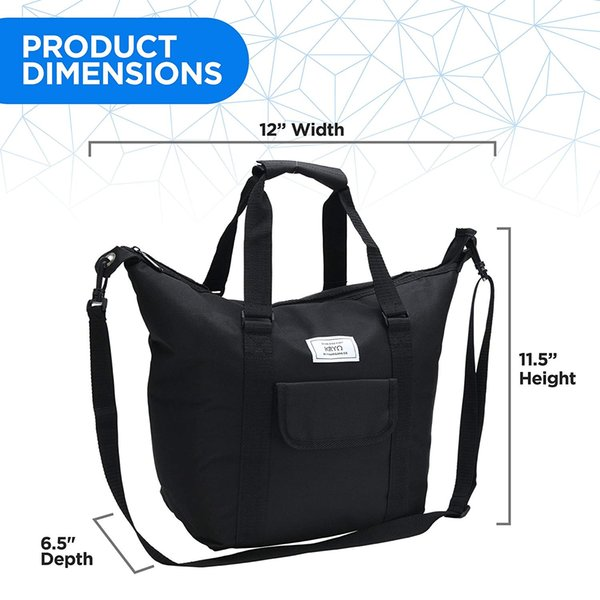 Insulated Portable Tote Bag - Large picnic lunch cooler bags - Mens and Womens oversized travel totes with shoulder strap - Thermal