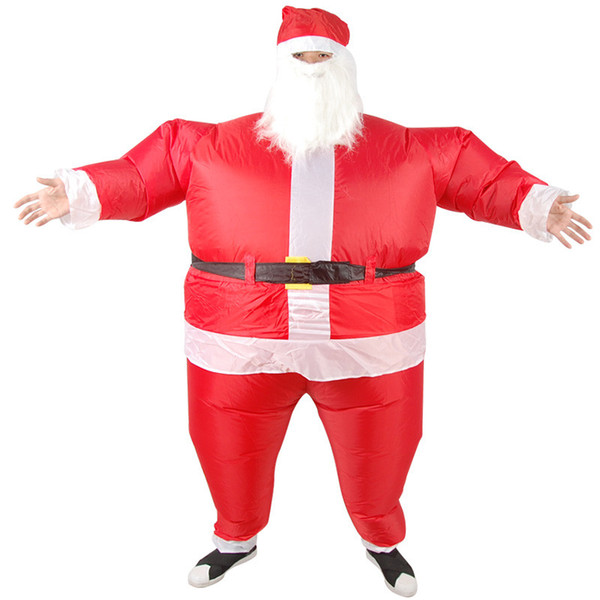 New Weihnachten Cosplay Weihnachtsmann Inflatable Kleidung Lustige Kleidung Haus-Partei-Leistung Lustige Requisiten mit Gebläse