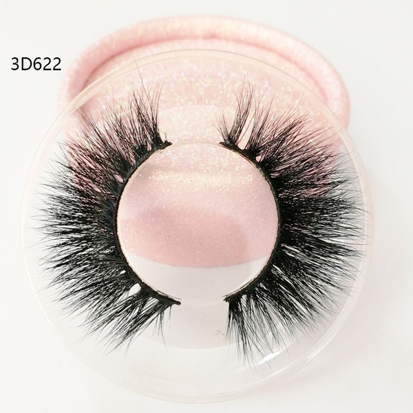 Factory direct sale 3D true mink hair eyelashes Messy Cross Thick Natural lashes winged lashes Fake Eye Lash clear box private label