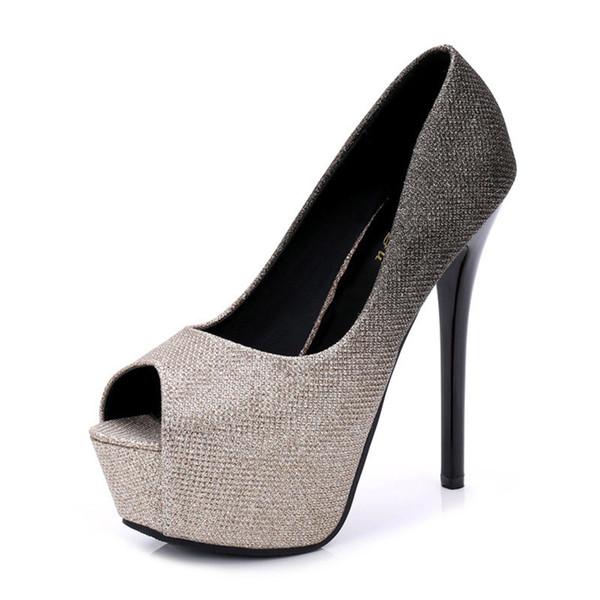 Women Peep Toe Platform Spring Pumps Ladies Slip On Party High Thin Heels Female Elegant Fashion Wedding Shoes