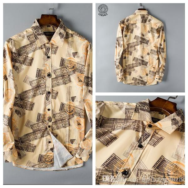 Yeni moda rahat erkekler baskılı gömlek tasarımı. Yüksek kaliteli pamuk medusa en kaliteli gömlek s-xxxl Z04 satın almak hoş geldiniz