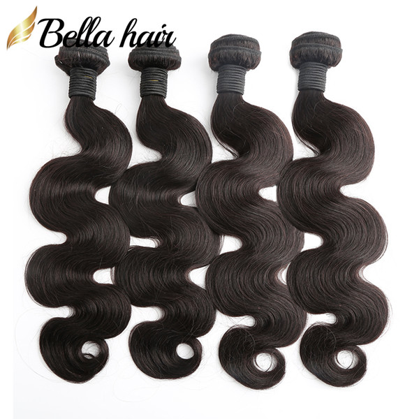 best selling Brazilian Hair Bundles Human Hair Weaves Extensions Body Wave Virgin Hair Weft Cheap Malaysia Peruvian Indian Double Weft 4PC Bellahair