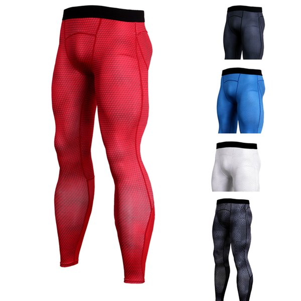 Wholesale New Rashghard Sport Pants Men Running Tights Snake Scales Fitness Leggings Gym Clothing Compression Trainning Workout Trousers
