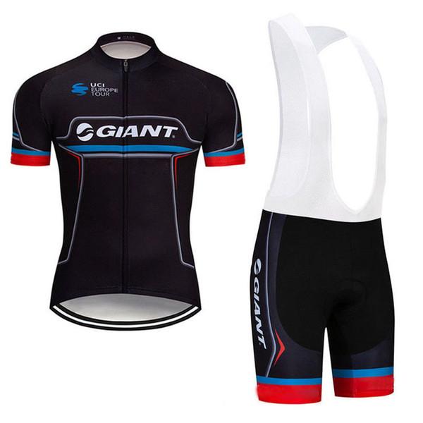 2019 GIANT Estate Uomo Ciclismo Jersey abbigliamento bicicletta manica corta ciclismo maglia MTB Bike pantaloncini tuta asciugatura rapida Ropa Ciclismo Y012204