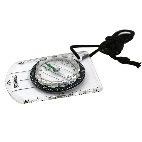 Professionelle Mini Kompass Karte Skala Lineal Multifunktionsgeräte Outdoor Wandern Camping Überleben bussola brujula