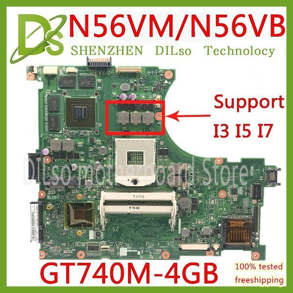 KEFU N56VM Motherboard Für ASUS N56VM N56VJ N56VZ N56VB Laptop Motherboard GT740 4G Mainboard Test