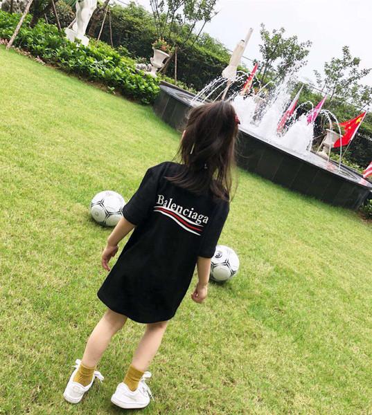 Crianças Designer de Camiseta Meninos Carta de Luxo BB Impresso Mangas Curtas Meninas Moda Cor Sólida Tees Tops para 2019 Novo Verão T-shirt 3 Cores