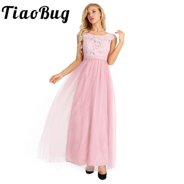 wholesale Black Gray Wine Red Pearl Pink Bridesmaid Dresses 2017 Elegant Women Ladies Wedding Party Tulle Chiffon Lace Bow