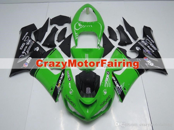 High quality New ABS motorcycle bike fairings 100% fit for kawasaki Ninja ZX6R 636 2005 2006 ZX-6R 05 06 bodywork set custom black green