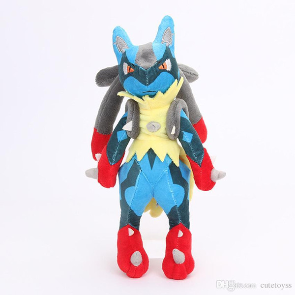 """Good Hot New 11"""" 28CM Lucario XY Plush Doll Anime Collectible Dolls Party Gifts Soft Stuffed Toys"""
