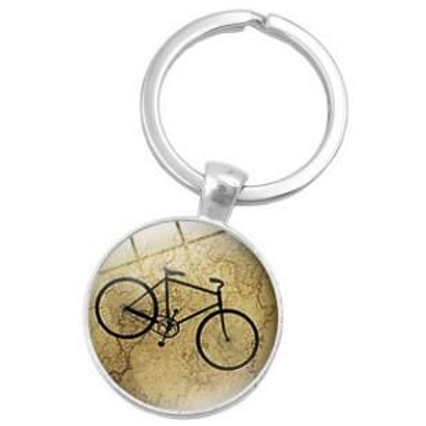 MIXED BIKE BICYCLE ALLOY GLASS VINTAGE CHARM KEYCHAIN KEYRING KEY ACCESSORY KEY CHAIN KEY RING CABOCHON PRECIOUS STONE CAR BAG ACCESSORIES