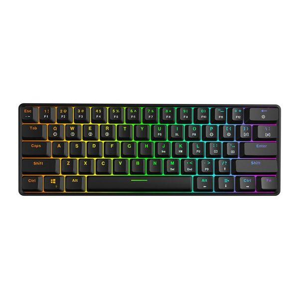 Mechanische Tastatur mit 61 Tasten Optischer Schalter Mehrfarbige RGB-LED-Hintergrundbeleuchtung mit Kabel