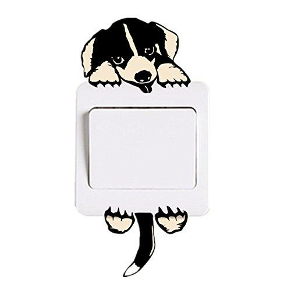 Switch Sticker, Yosemy Lovely Cute Cartoon Vinyl Wall Switch Sticker for Home Decoration, Light Switch Decor Decals