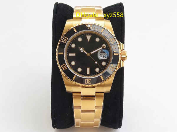 2019 Top Luxury Watch 18k Real Gold-Plated Automatic Wristwatch Sapphire Mirror Big Brand Best Quality Men's Watch Swiss Watches