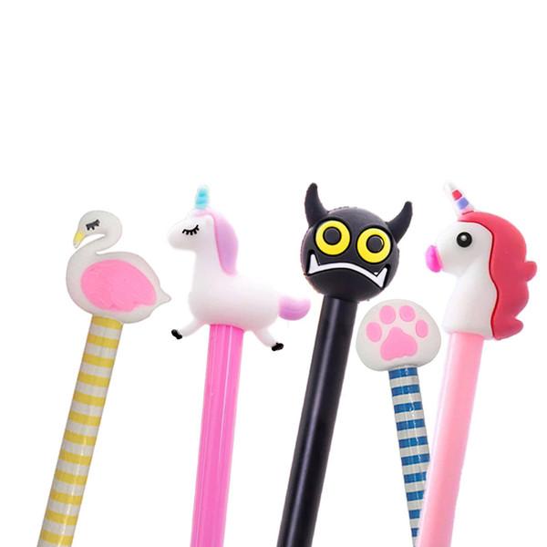 Grenzüberschreitender heißer Verkauf Kreative Karikaturflamingostiftsatz Einhornsauger kleine Teufelpuppe Spielzeugförderung