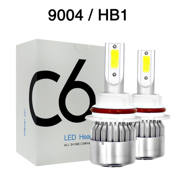 Pair 80W 8000LM LED Headlight Conversion Kit 9004 HB1 Dual Beam Bulb COB White 6000K Lamp Hi-Lo