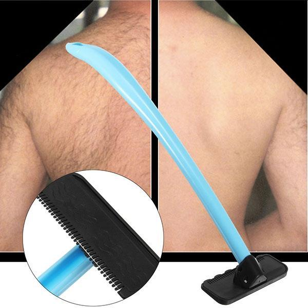 Men Manual Back Hair Shaver Blade Trimmer Do-it-yourself Whole Body Leg Back Hair Razor Long Handle Big Blade Hair Removal Razor BB