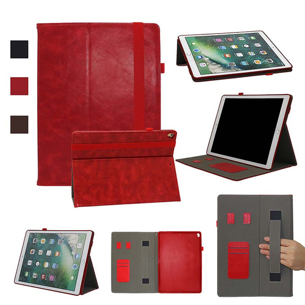Classic Half Genuine Leather Tablet Case for iPad Pro 12.9 inch ipad pro 11 inch Shell cover case Shockproof PU Leather Case