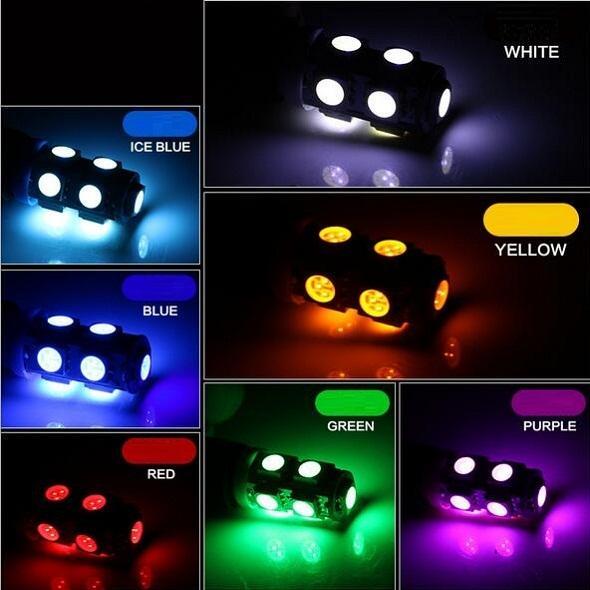 Luz interior led de coche 194 168 W5W T10 9SMD 5050 Automóviles LED Bombillas de coche Luces LED de auto Luces de lectura
